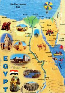 خريطة الاثار الفرعونية فى مصر