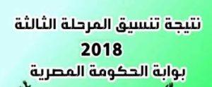 نتيجة تنسيق المرحلة الثالثة في الثانوية العامة للشعبتين في مصر