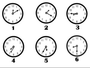 الساعات بالانجليزي