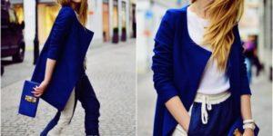 درجات اللون الازرق فى الملابس