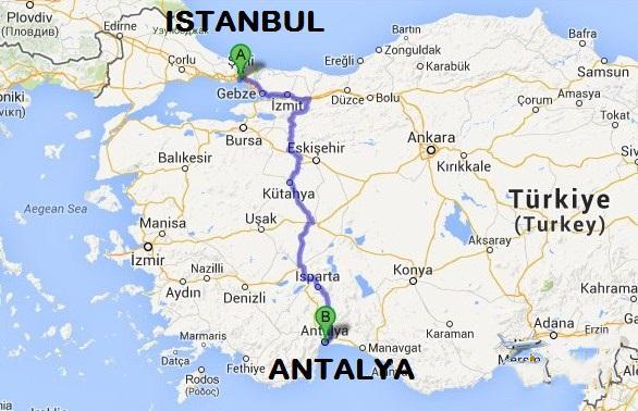 كم تبعد انطاليا عن اسطنبول ابجديه Abjadih